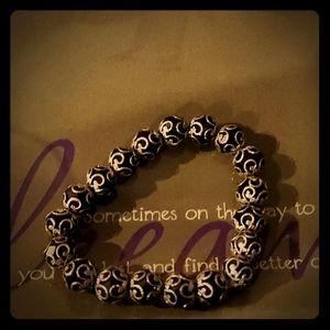 *Black silver Bracelet